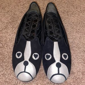 Marc by Marc Jacobs Dog Flats Black Size 38 US 8